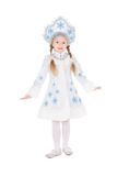 Girl posing in snowflake costume Stock Image