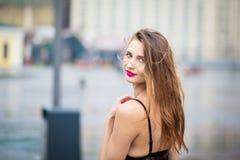 Girl posing on the street Stock Image
