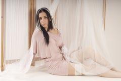 Girl posing in the studio like princess Stock Photos