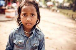 Girl posing at sunset in Angkor Wat, Cambodia Stock Photo