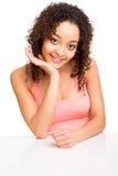 Girl posing on table Royalty Free Stock Photos