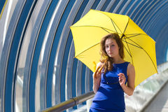 Girl posing umbrella Royalty Free Stock Photography