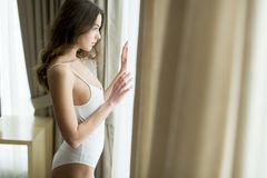 Girl posing in underwear Royalty Free Stock Photos