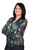 Girl posing on white background Stock Photography