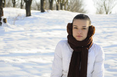 Girl posing in winter Royalty Free Stock Image