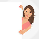 Girl with poster Royalty Free Stock Photography