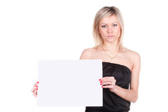 Girl with a poster Royalty Free Stock Images