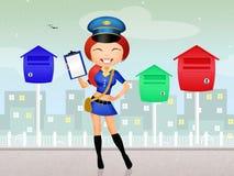 Girl postman Stock Images