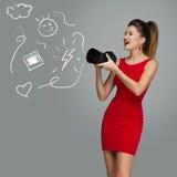Girl potographer with camera Stock Photo