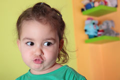 Girl pouting Stock Photography