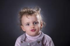 Girl pouting Stock Photography