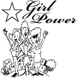Girl Power Stock Photography
