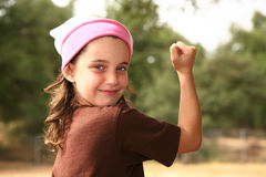 Girl Power Royalty Free Stock Photo