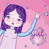 Girl power cartoon royalty free illustration