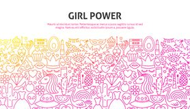 Girl Power Concept royalty free illustration