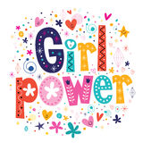 Girl power. Decorative lettering design Royalty Free Stock Image