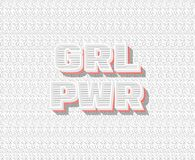 Girl power - GRL PWR . royalty free illustration