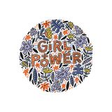 Girl Power Illustration. Girl power lettering design with flowers. Inspirational quote, feminism quote. Phrase for posters, t-shirts and wall art. Vector design Royalty Free Stock Photo
