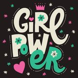 Girl Power Lettering poster royalty free stock images