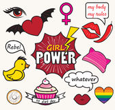 Girl power patches Royalty Free Stock Photo