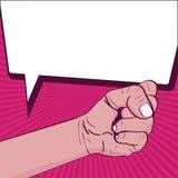 Girl power pop art stock illustration