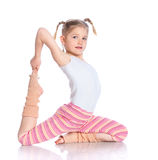 Girl practice yoga Royalty Free Stock Images