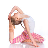 Girl practice yoga Stock Photo