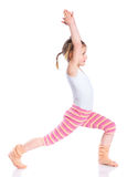 Girl practice yoga Stock Image