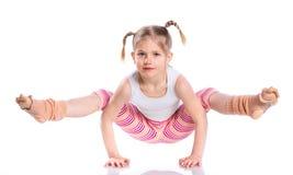 Girl practice yoga Stock Photos