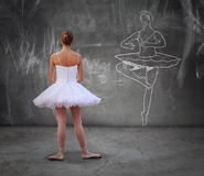 Girl practicing classic dance Royalty Free Stock Photos