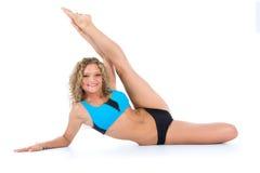 Girl practicing fitness Stock Photos