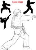 Girl practicing karate Stock Image
