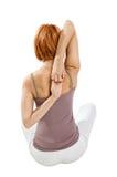 Girl practicing yoga Royalty Free Stock Photo