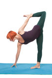 Girl practicing yoga royalty free stock photography