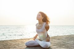 yoga and nature royalty free stock image
