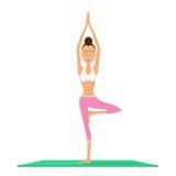 Girl practicing yoga Stock Photo