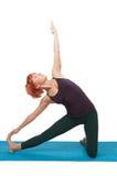 Girl practicing yogatic asana Stock Image