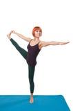 Girl practicing yogatic asana Royalty Free Stock Photo