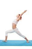Girl practicing yogatic asana Stock Photo