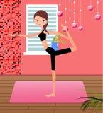 Girl practising yoga Royalty Free Stock Photos
