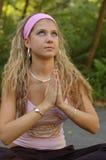 Girl in Prayer Royalty Free Stock Photography