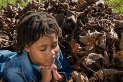 Girl in Prayer Stock Images