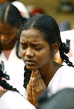 Girl in Prayer royalty free stock photos