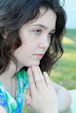 girl praying Stock Photography