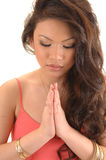 Girl praying Royalty Free Stock Photo