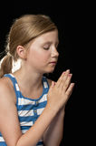 Girl praying Royalty Free Stock Photos