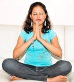 Girl praying Royalty Free Stock Photography