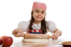 Girl preparing dough Stock Photography