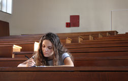 Girl preparing for exam Royalty Free Stock Photography