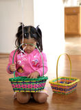 Girl Preparing For Easter Stock Images